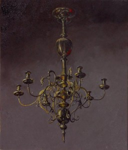 """Chandelier II was painted entirely 'by eye'. Our analyses show that it has better perspective accuracy throughout than the Arnolfini chandelier."" Dr David G Stork."